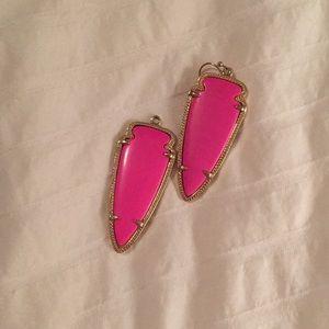 Hot Pink/Magenta Kendra Scott Skylar Earrings